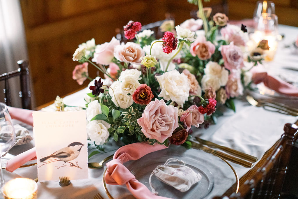 Fall wedding tablescape centerpiece Delaware Florist