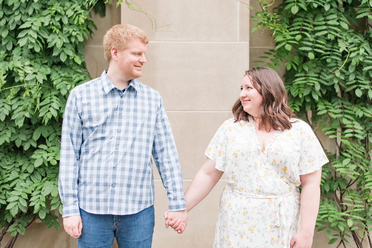 Cait Potter Creative LLC Canal Indianapolis White River State Park Spring Engagement Photos-5