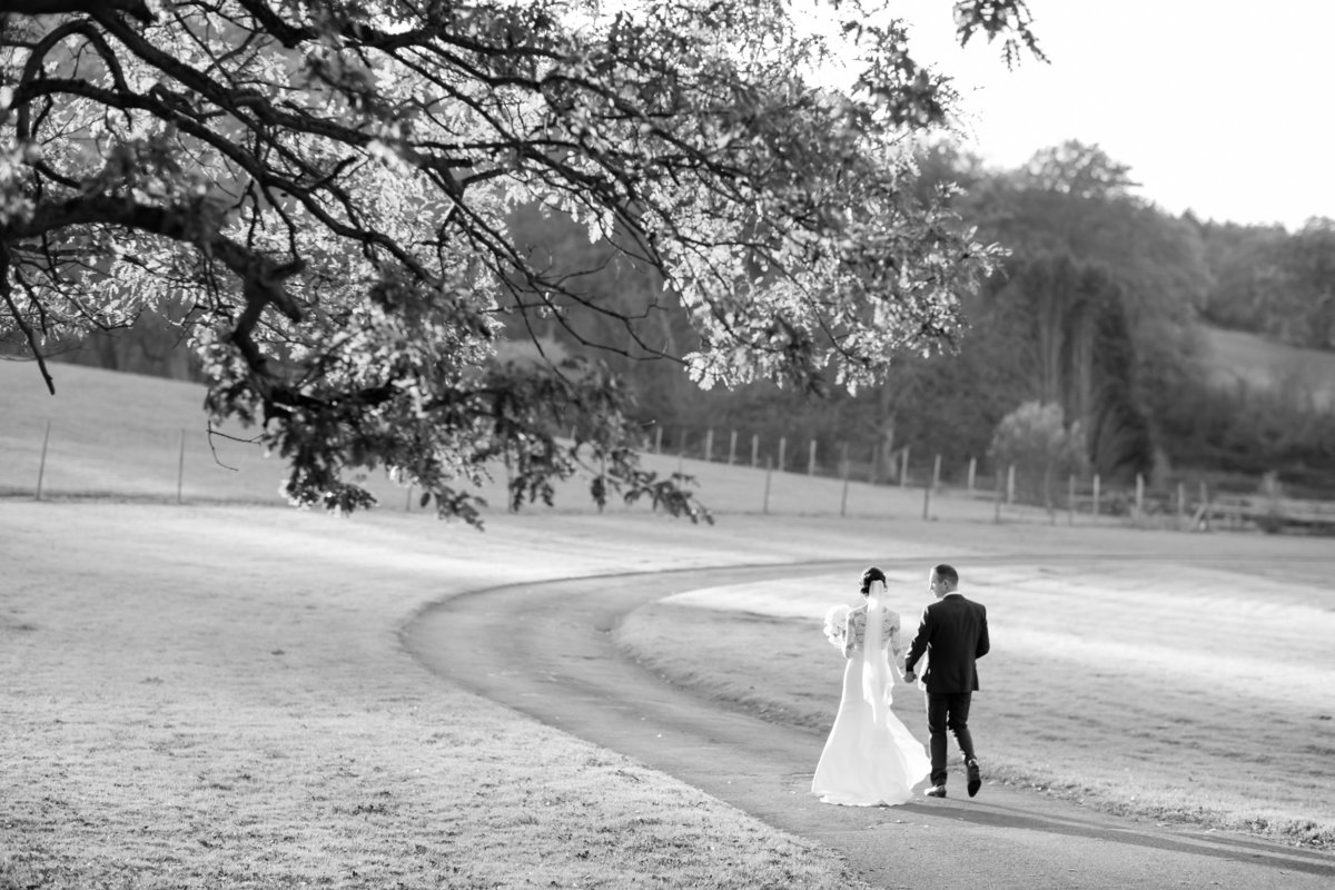 wedding photographer at st audries park black ans white