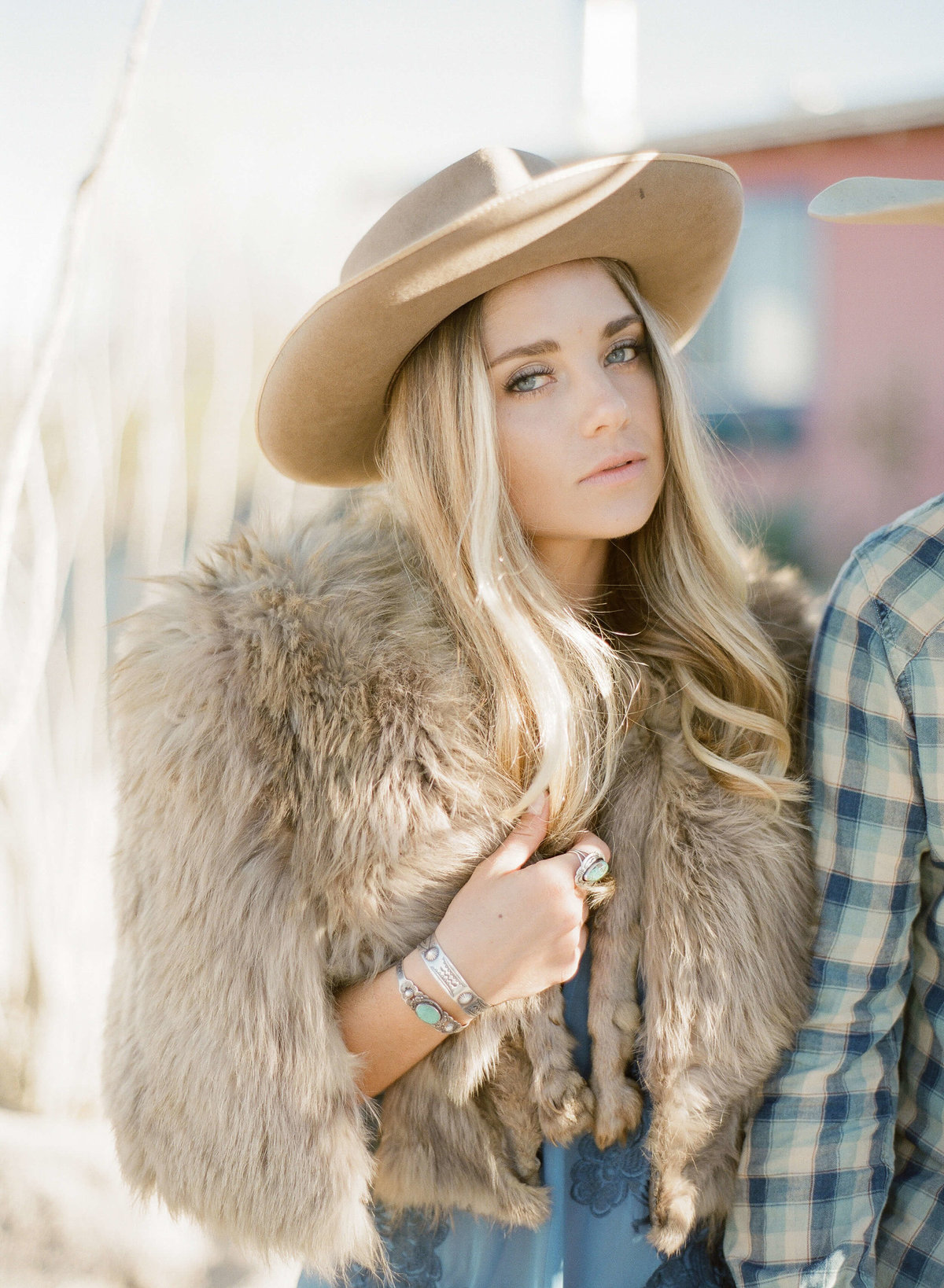 8-KTMerry-engagement-photography-fur-coat-Joshua-Tree