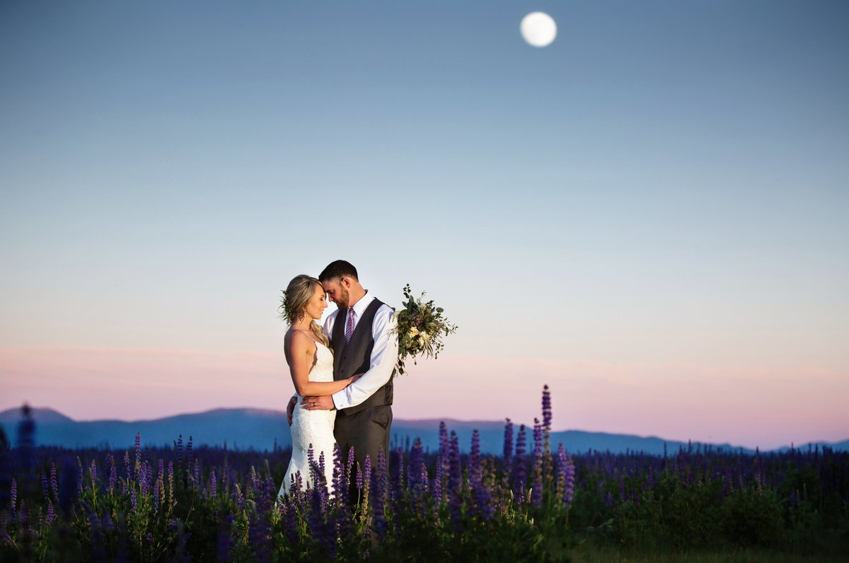 Lake Tahoe full moon wedding photos