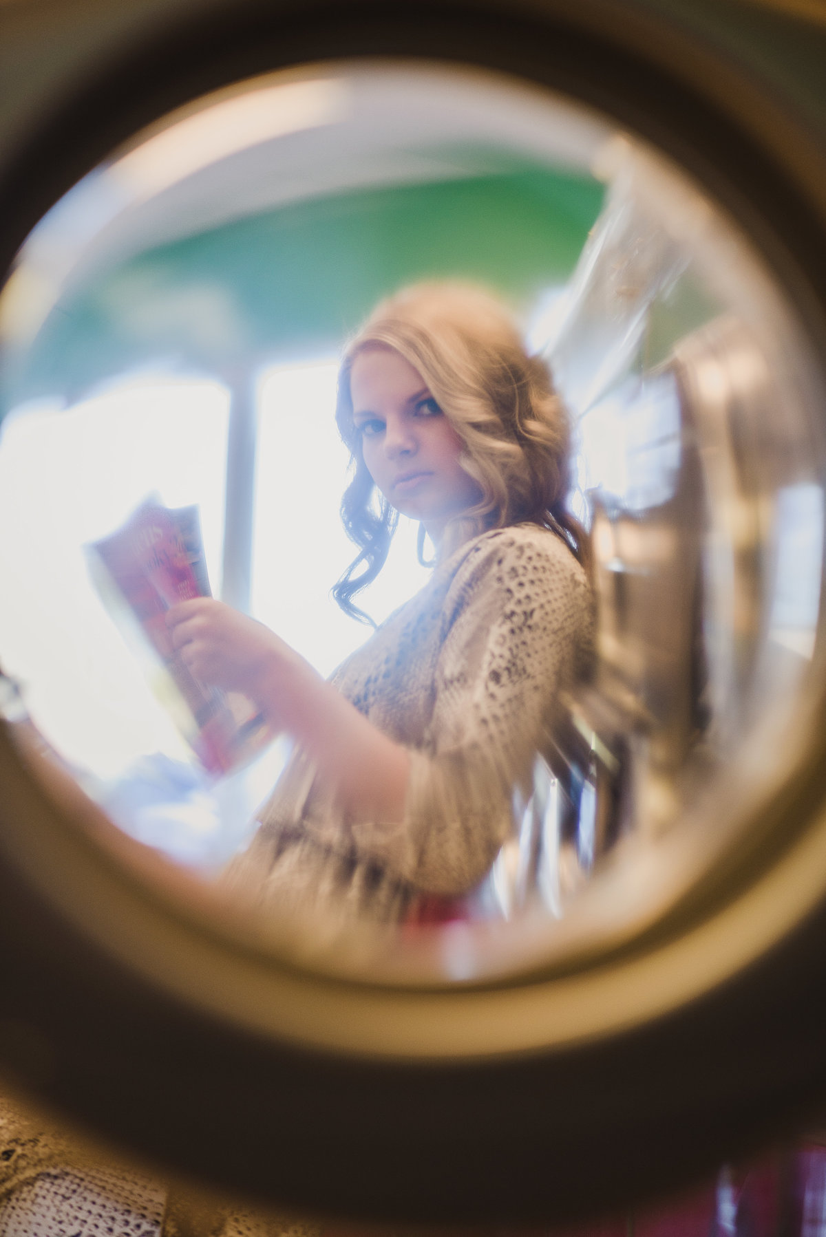 Senior Session Through the looking glass