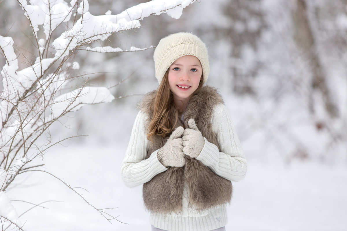 Child in the snow session