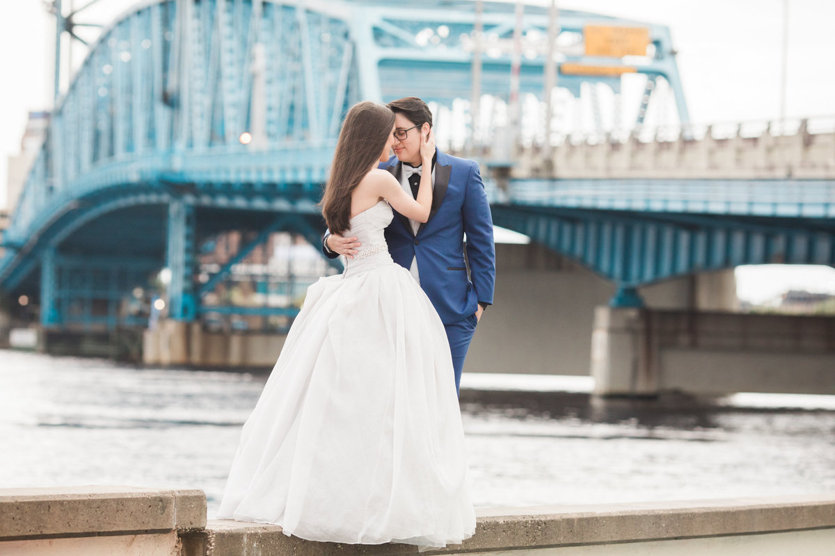 LGBT Friendly Wedding in Downtown Jacksonville at Main Street Bridge