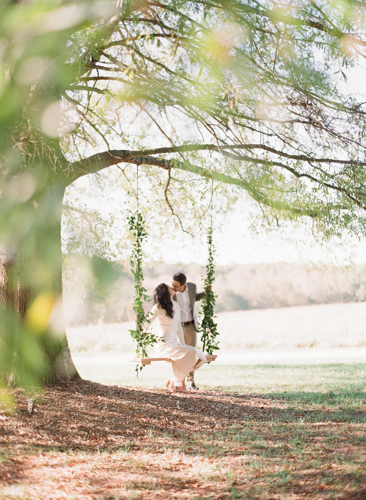 French Vineyard Engagement Photography at The Meadows in Raleigh, NC 1