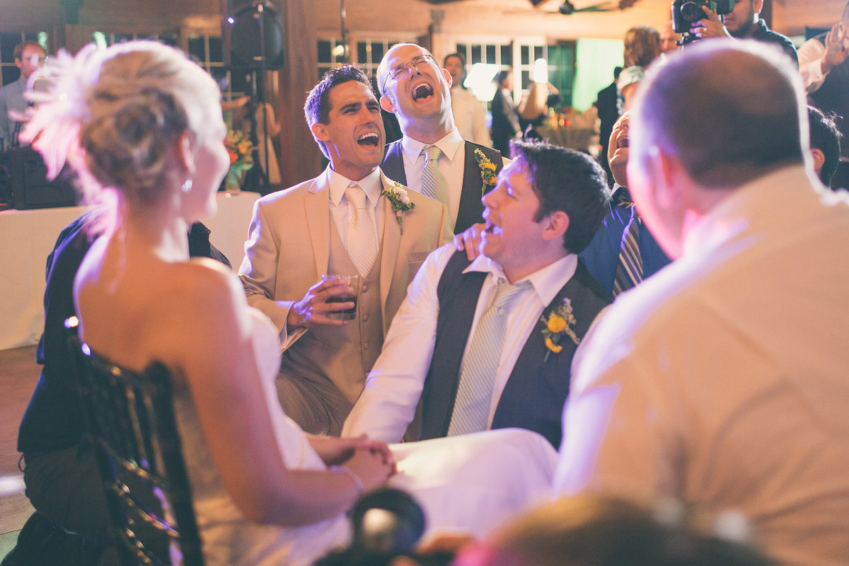 Groom drunk singing to Bride