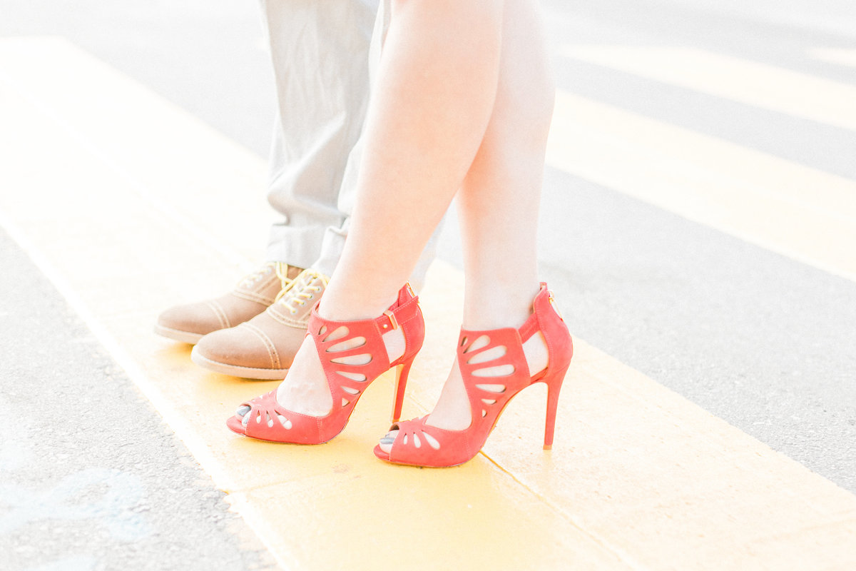 Chic Red Suede Heels