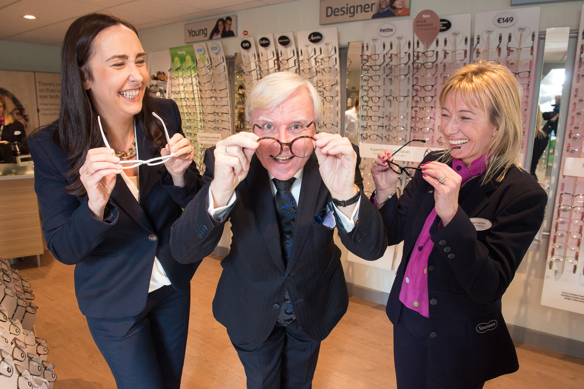 Francis Brennan, Park Hotel opening Specsavers Tralee store