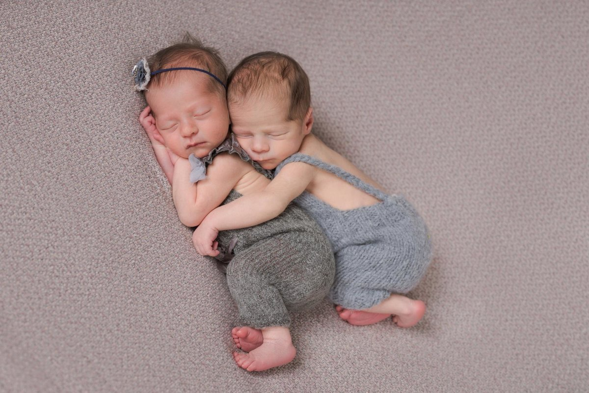twin babies brother and sister