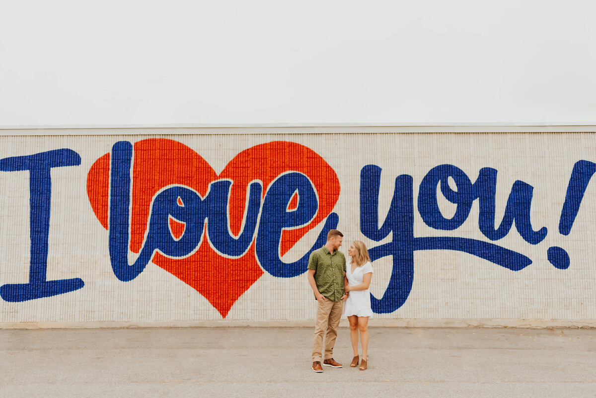 Chelsea + Garth engagement at Deep Ellum, Dallas texas -1