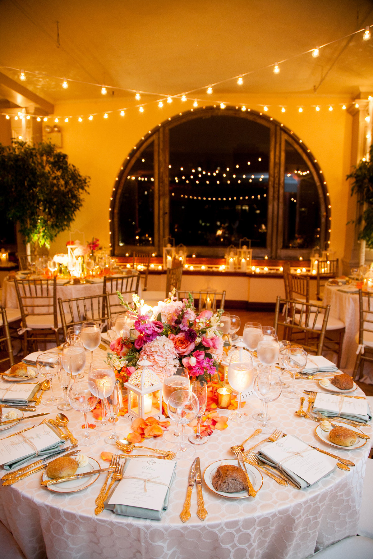 NYC Manhattan Penthouse Wedding Planner Colorful K. Barner Events 17