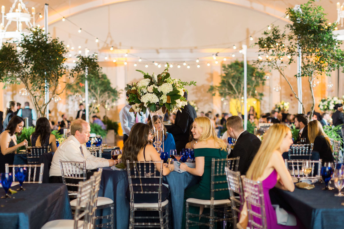 Midnight in the Garden theme at the Atlanta History Center. Photo by luxury destination wedding photographer Rebecca Cerasani.