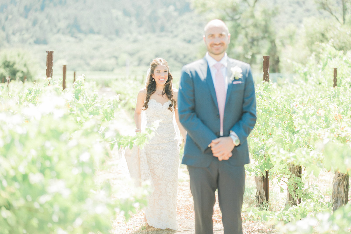 Vineyard Wedding First Look