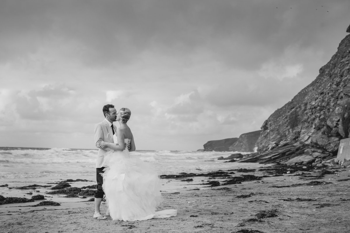 cornwall beach wedding