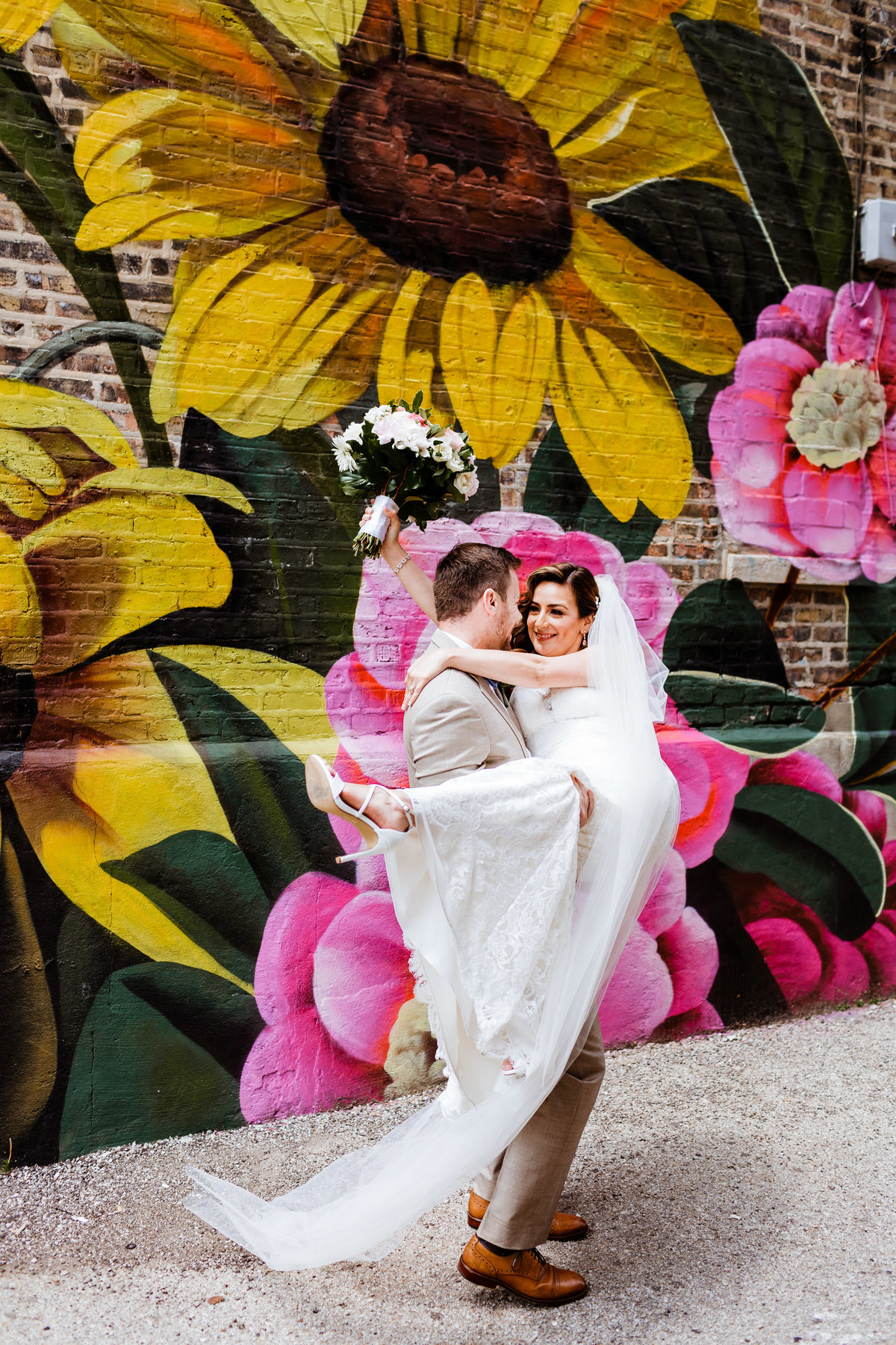 Humboldt-Park-Wedding-Photographer-Flower-Wall