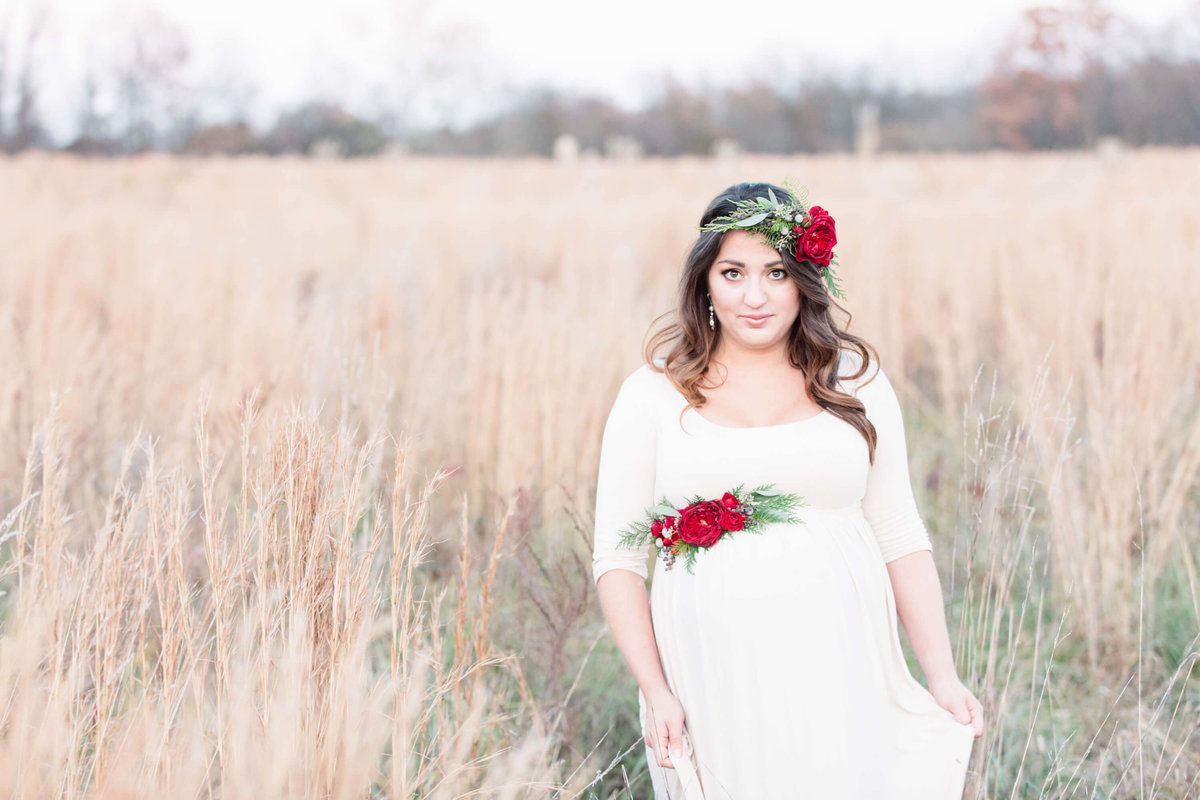 Christmas Maternity Shoot 1147