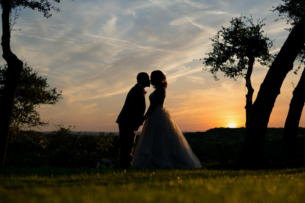 Canyonwood Ridge wedding photographer black bride groom sunset 250 S Canyonwood Dr, Dripping Springs, TX 78620