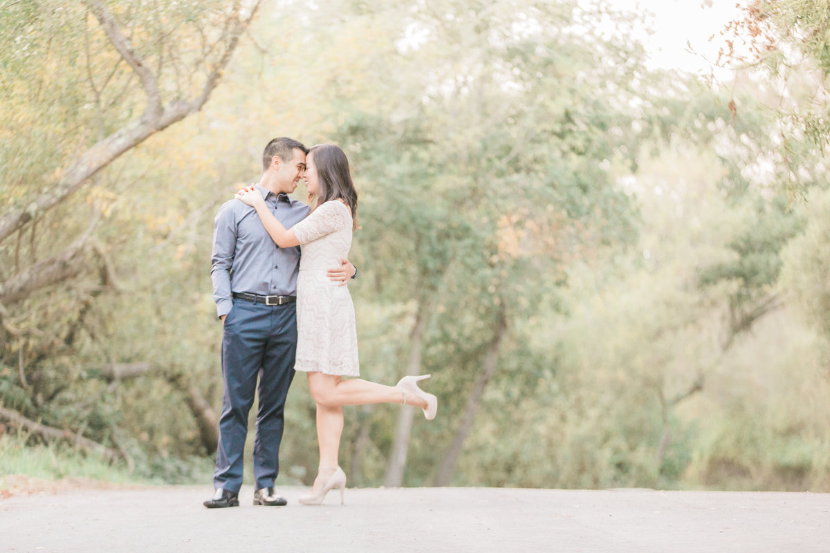 California Wine Country Road Engagement Portraits