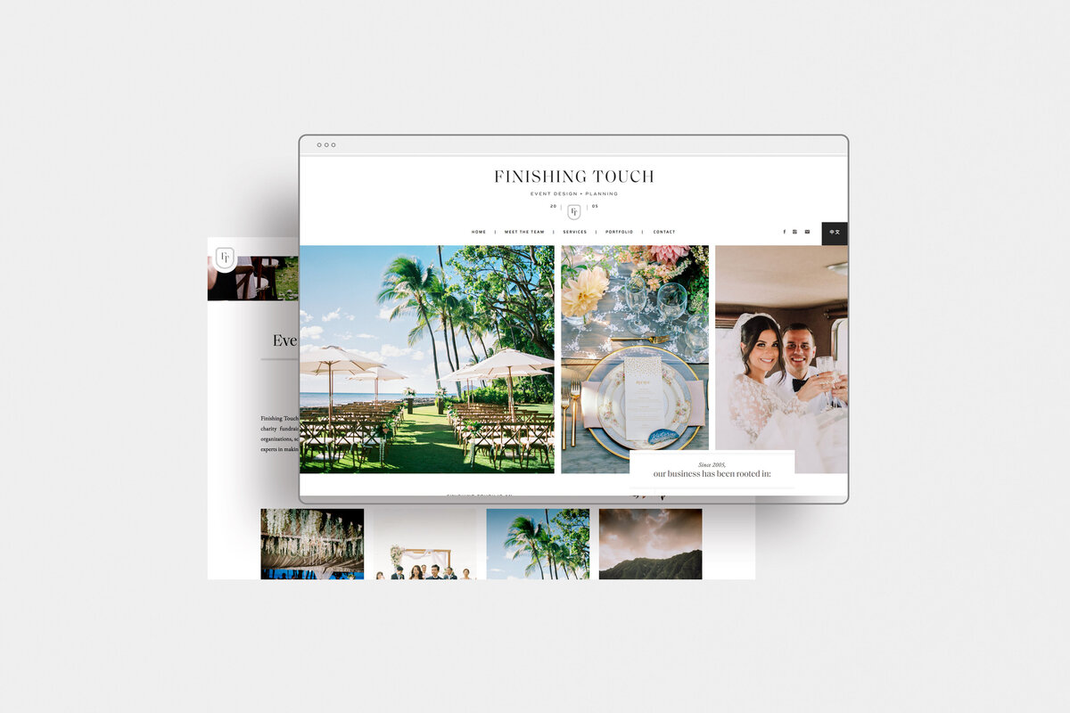 Finishing Touch Hawaii - Custom Brand and Web Design Website Design for Wedding and Event Planner - With Grace and Gold - Showit Website Designer - 26
