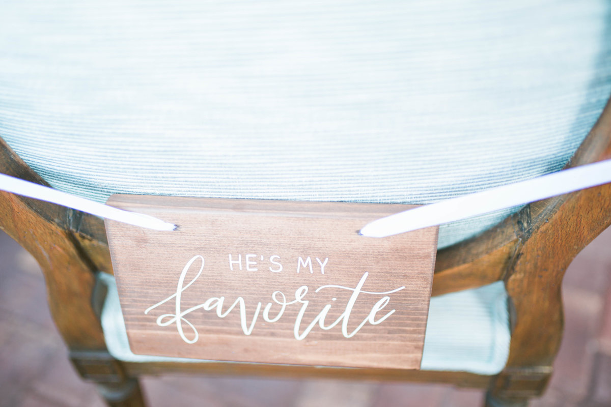 wedding sign chair sign calligraphy