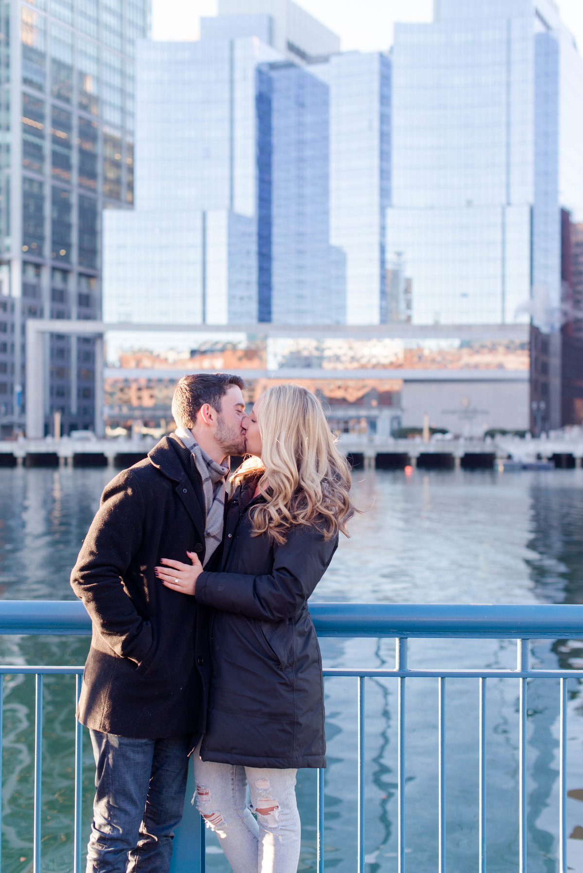 seaport proposal photos in the winter.