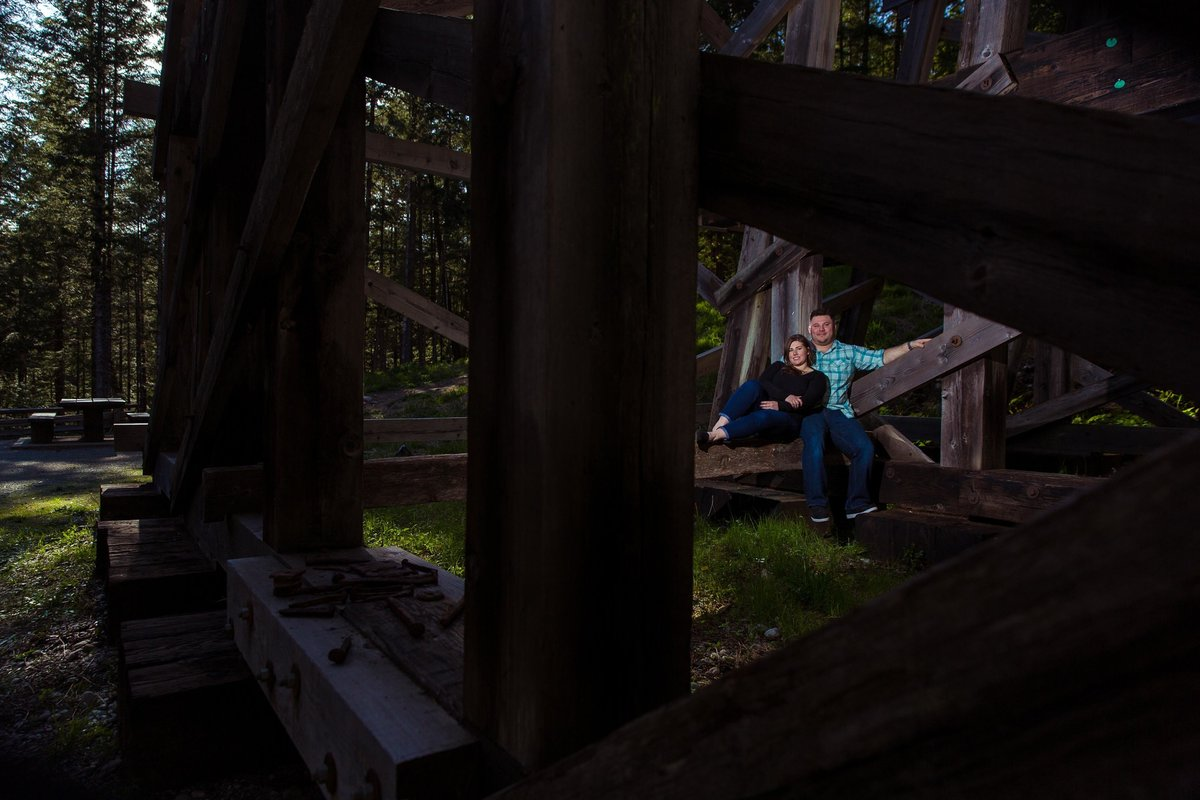Nanaimo couple cuddle under trestle
