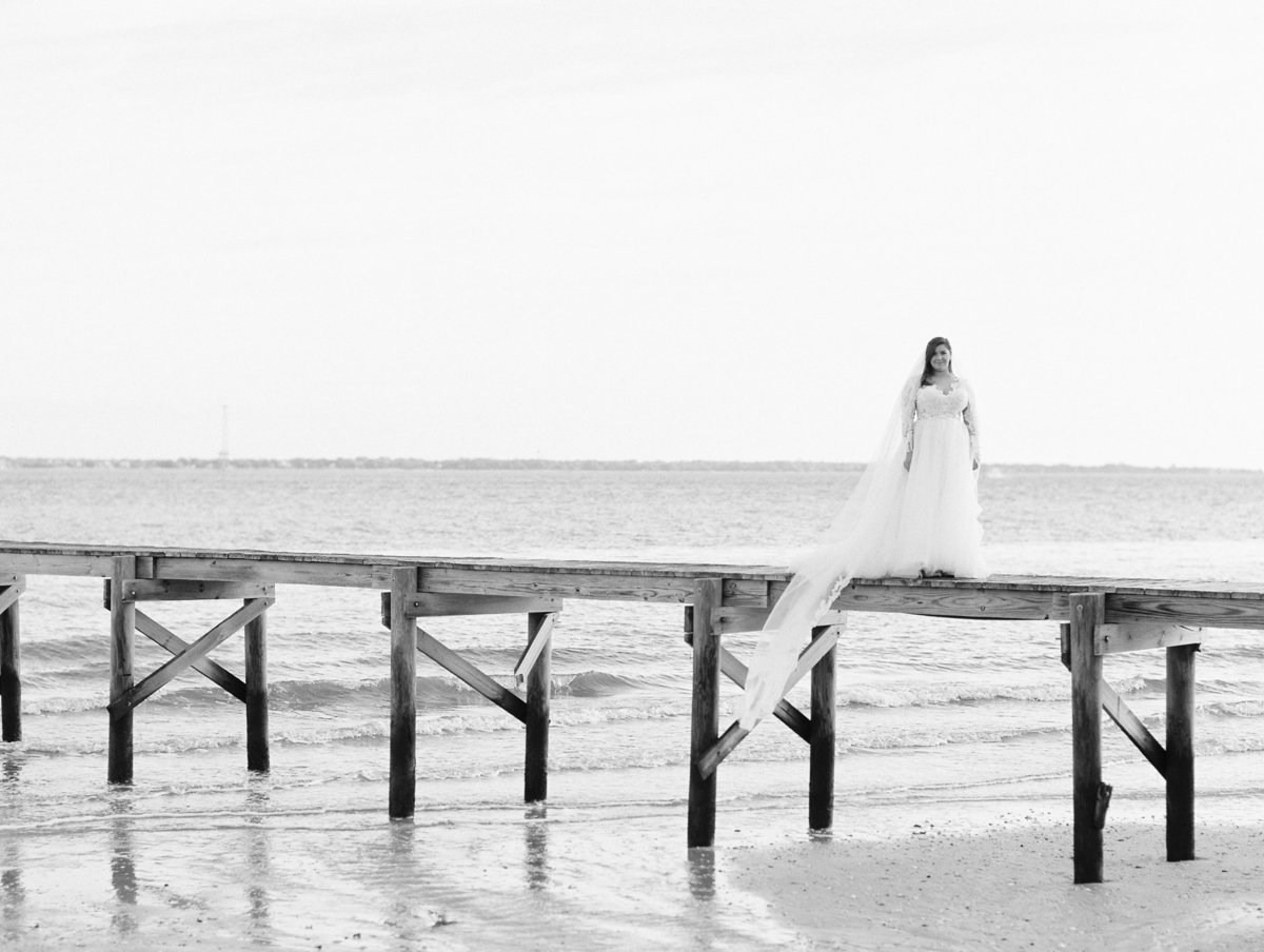 Lowcountry bridal portraits dock