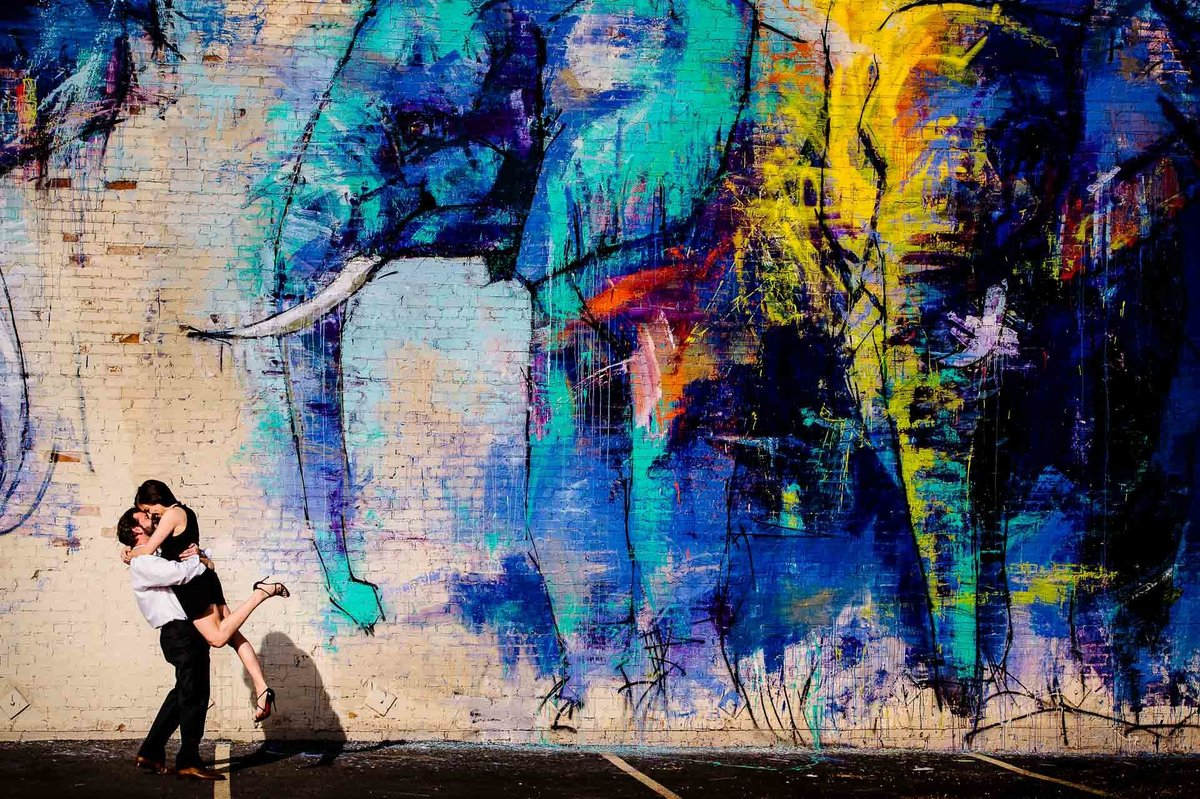 engagement photo in deep ellum dallas texas by stephane lemaire photography
