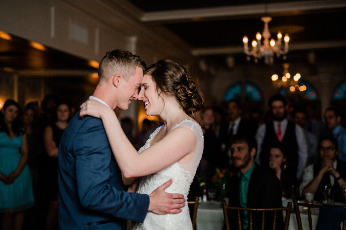 Bride and groom's first dance on their General Sutter Inn wedding in Lititz PA