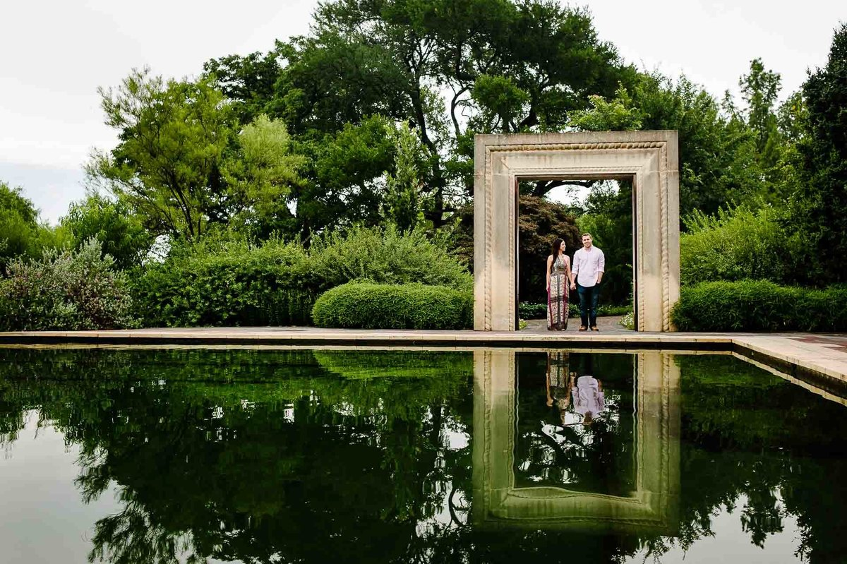 engagement photo at dallas arboretum in  texas by stephane lemaire photography