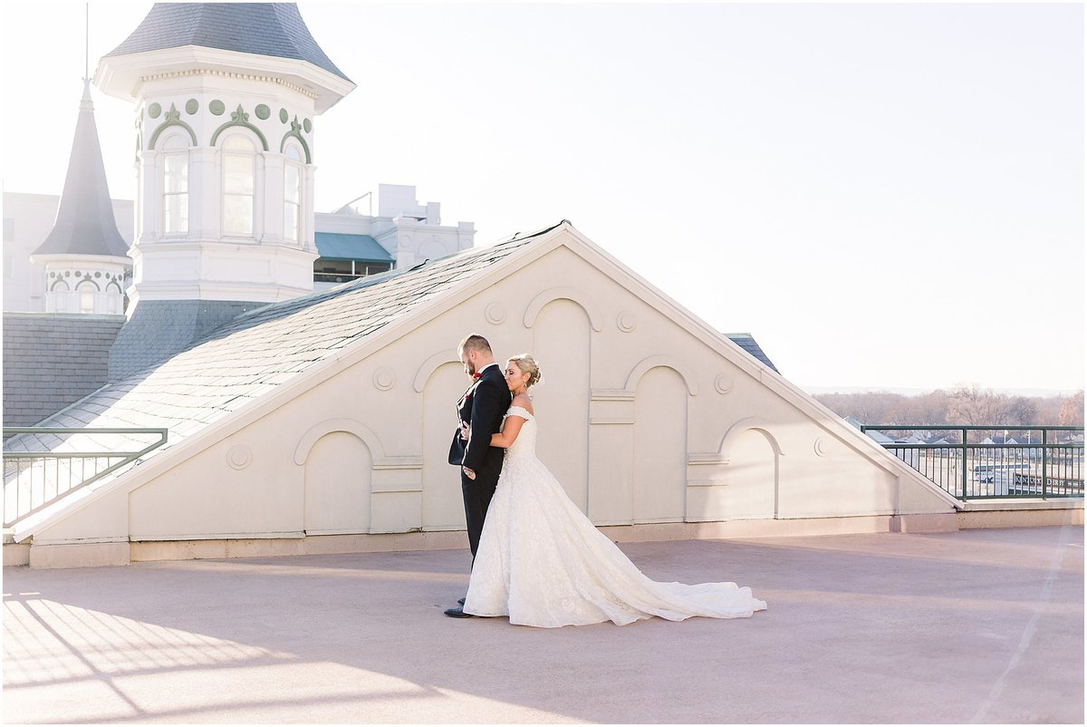 first look at churchill downs raleigh nc wedding photographer
