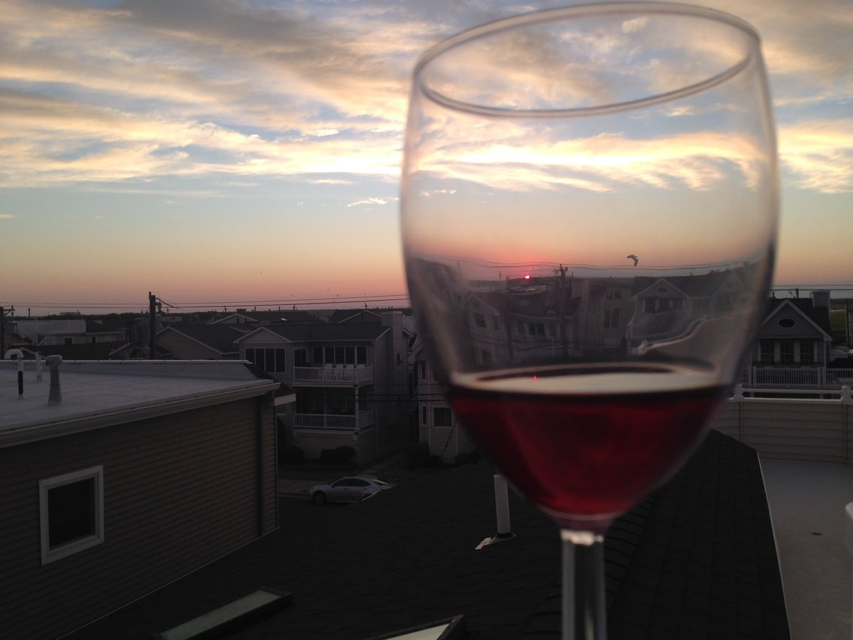 Wine and Sunset