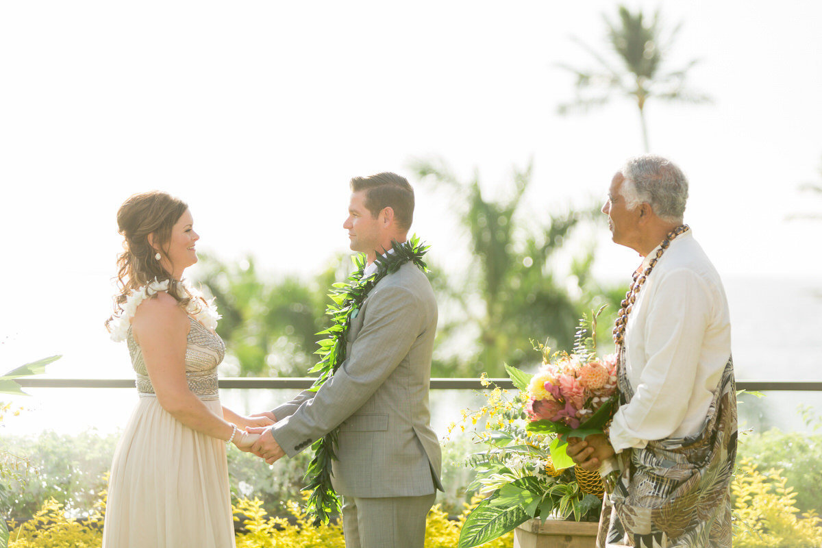 maui vow renewal at the Four Seasons
