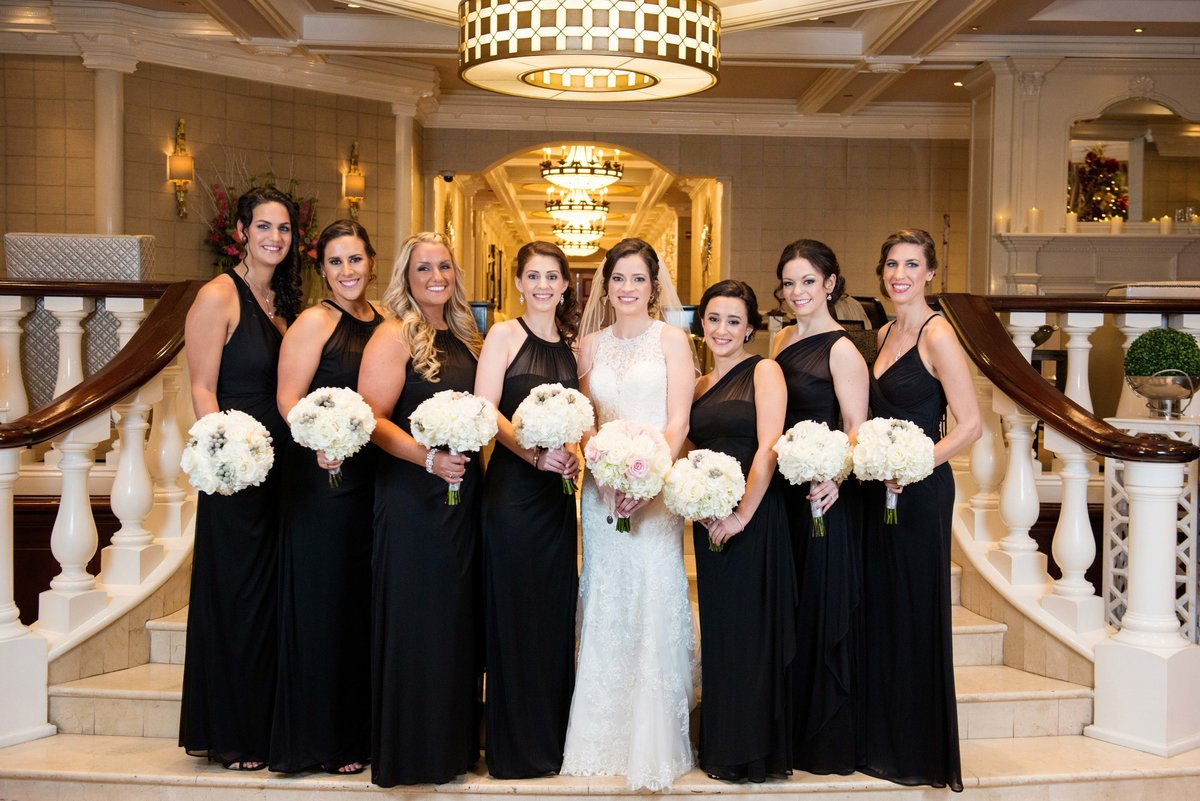 Bridesmaids photo at Watermill Caterers
