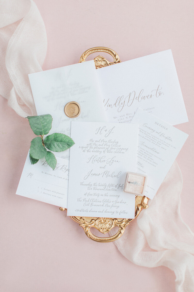 www.pirouettepaper.com |  Wedding Invitations, Calligraphy nd Wedding Stationery |Park Chateau New Jersey Wedding Wedding | _ Pirouette Paper Company | Dyanna Lamora Photography _ 39
