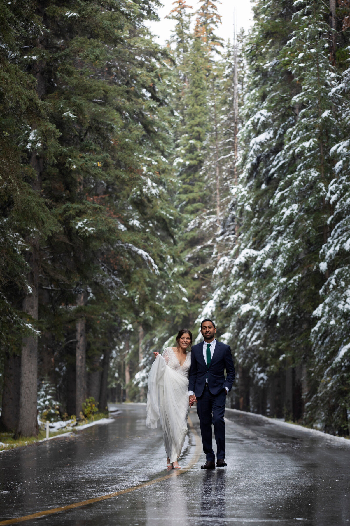 Winter Wedding Photos in Banff