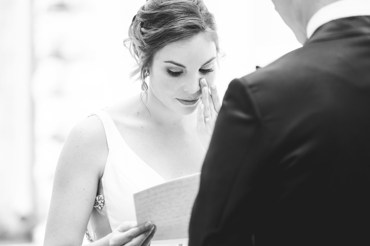 chateau bellevue wedding photographer bride crying letter from groom 708 San Antonio St, Austin, TX 78701