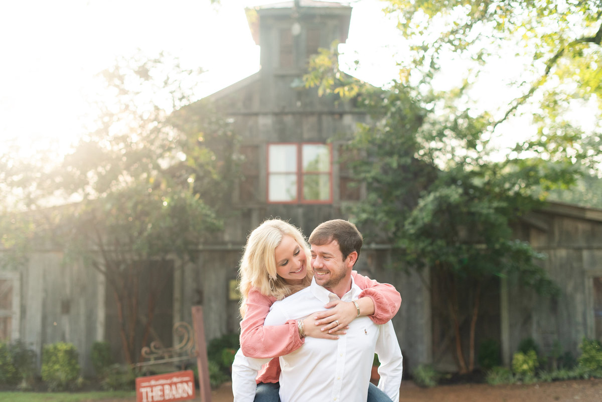heartwood hall piggyback engagement photo