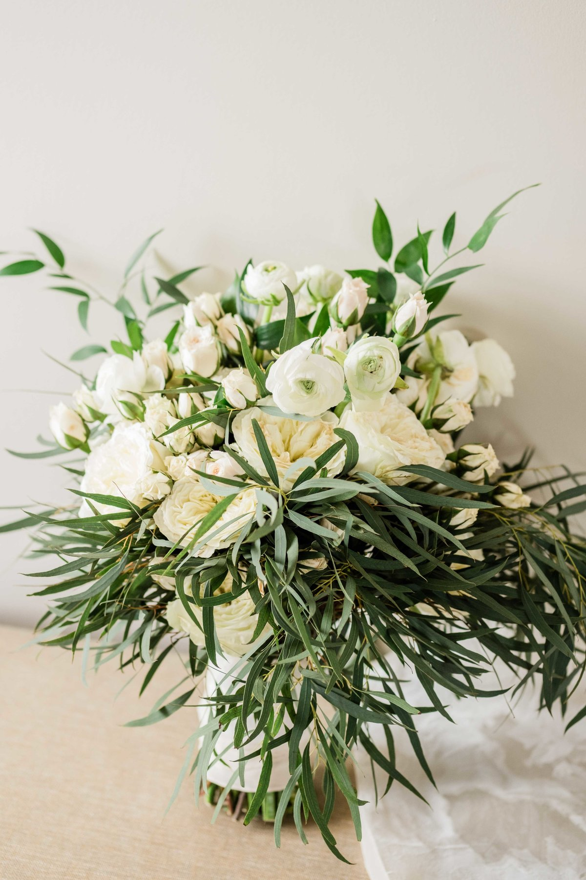 garden roses wedding bouquet