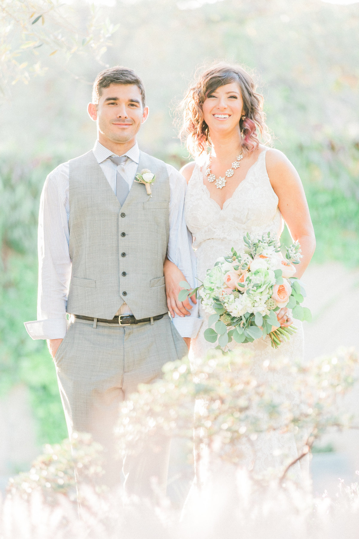 California Hazy Light Sunset Wedding Photos