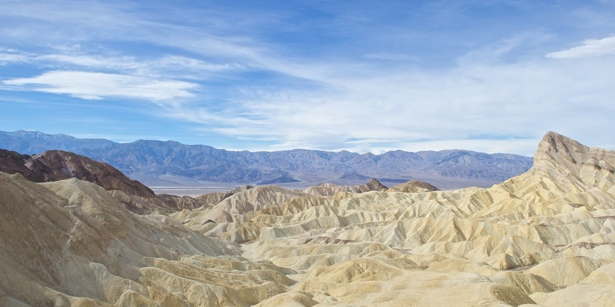 Death Valley Zabriskie Point stunning panorama