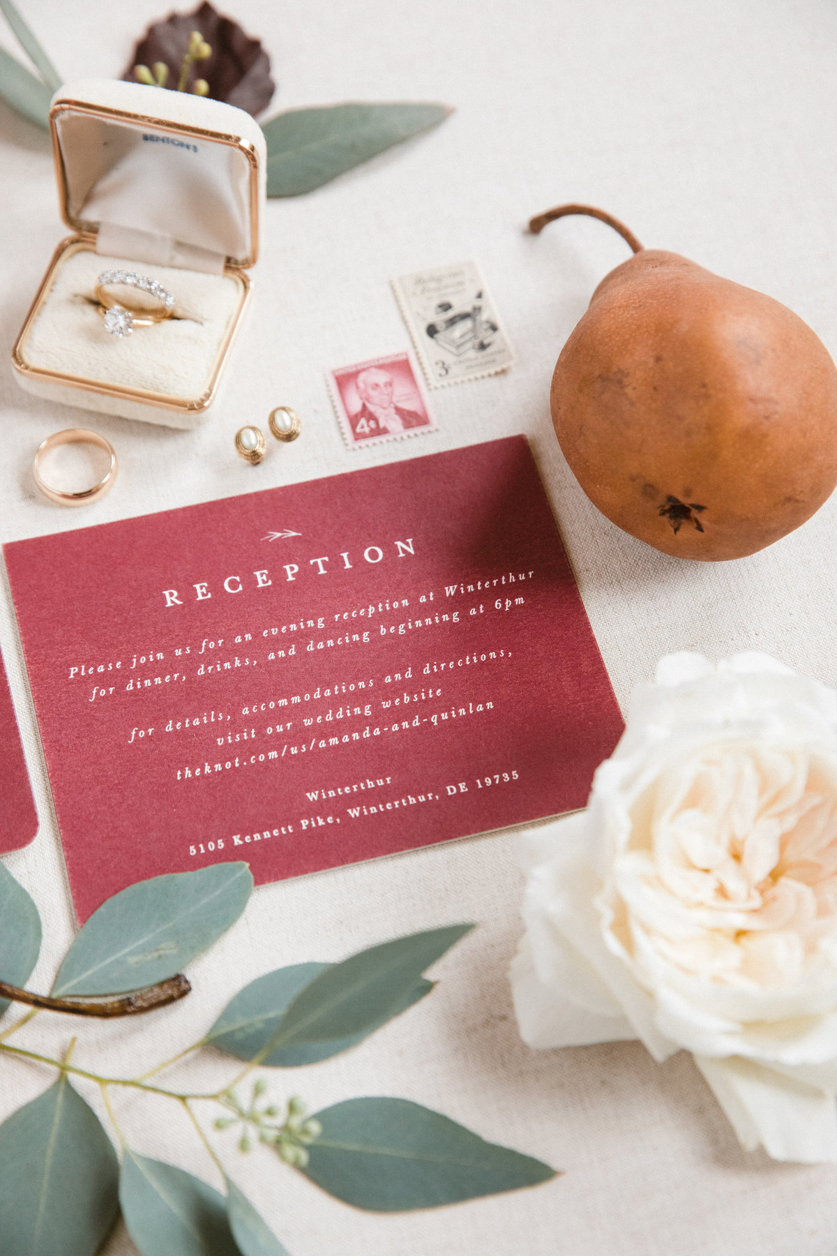 wedding invitation Hotel Dupont Wilmington Delaware