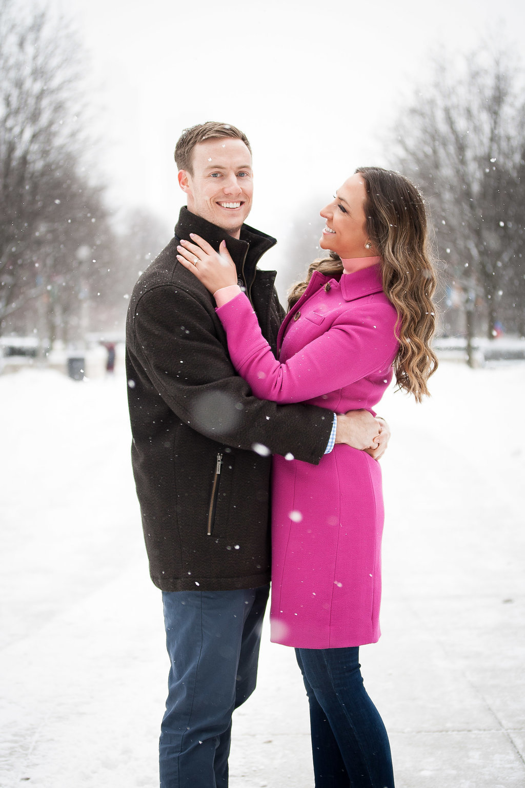 Millennium Park Chicago Illinois Winter Engagement Photographer Taylor Ingles 4
