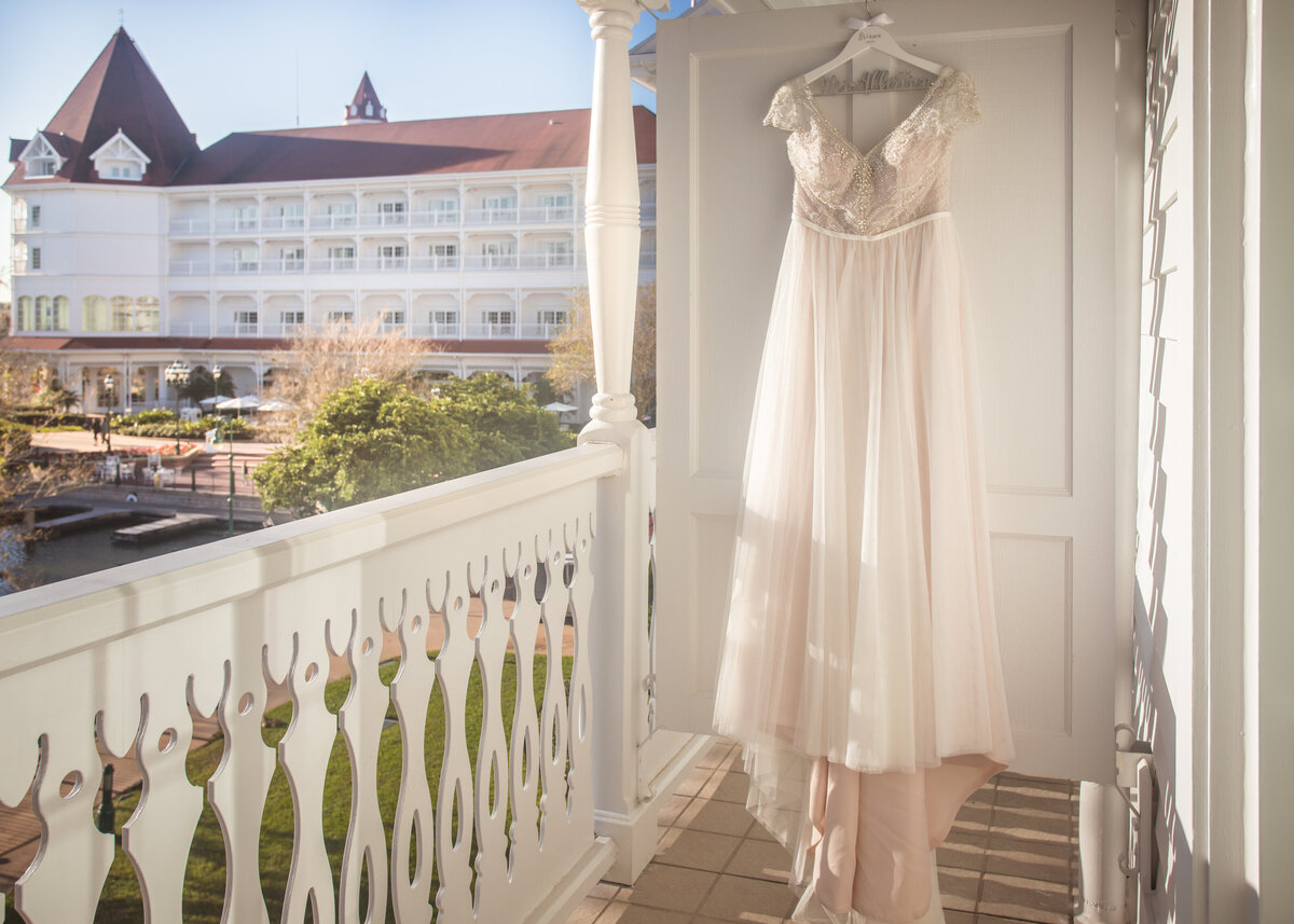 Dress hanging outside at the Grand Floridian at the Walt Disney World Resort