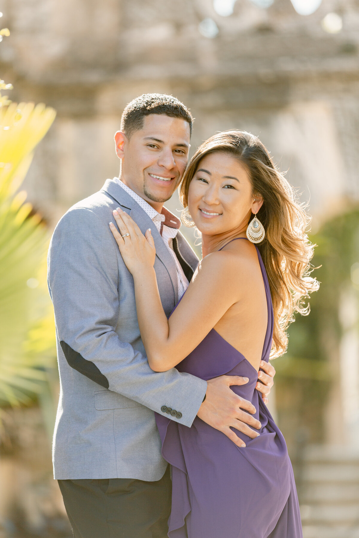 Vizcaya Museum Engagement Photography Session 6