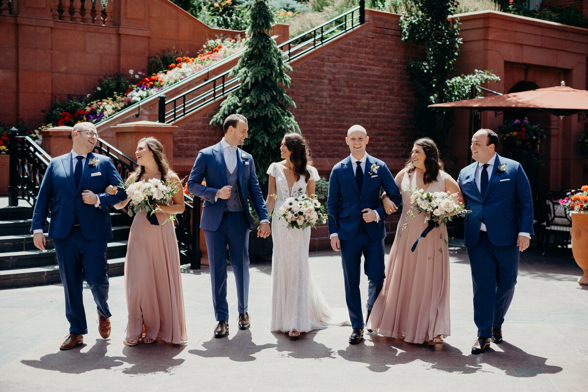 gps-bridal-party-st-regis-courtyard-aspen-custom-blue-suits