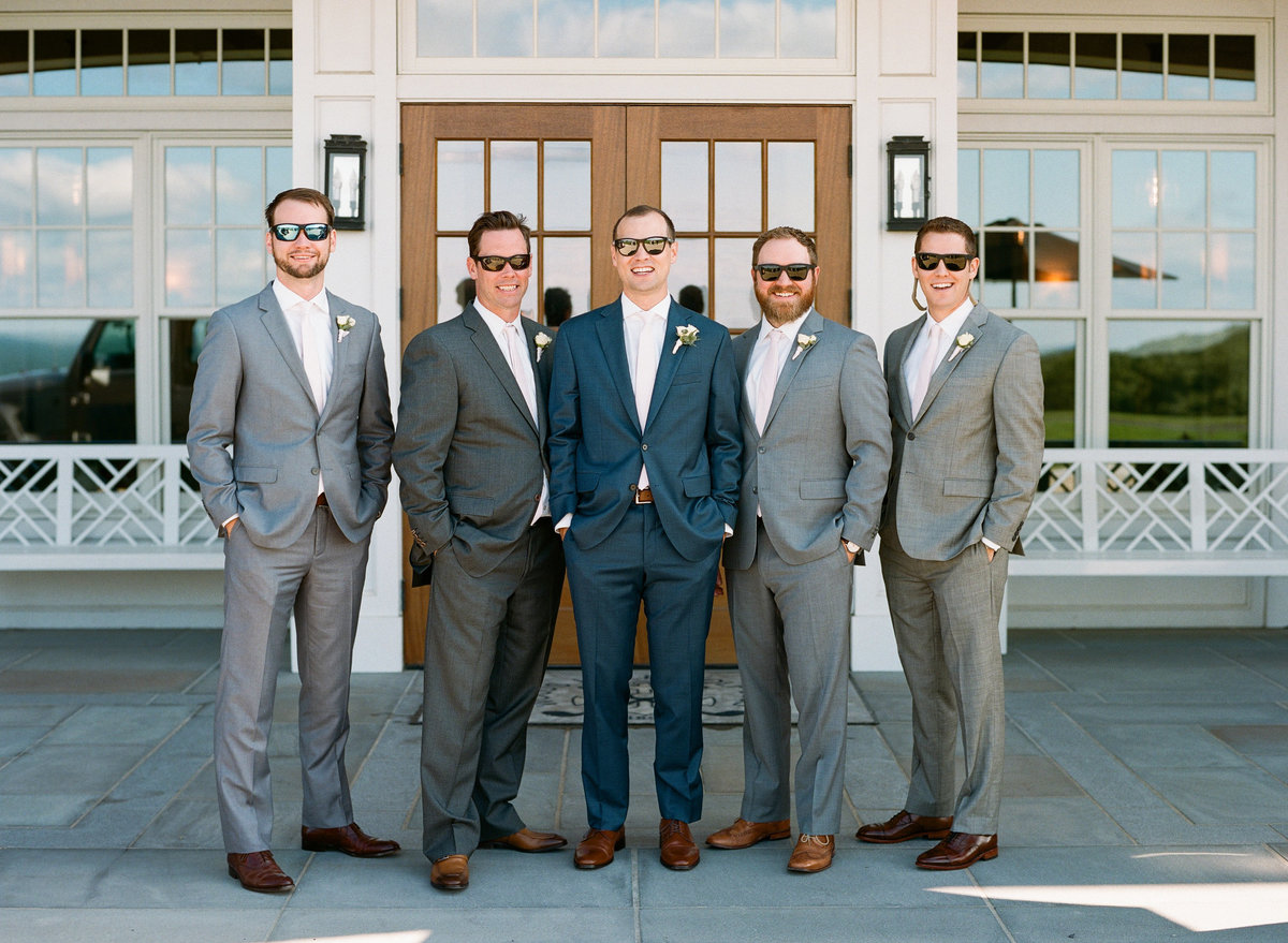Groomsmen with sunglasses on