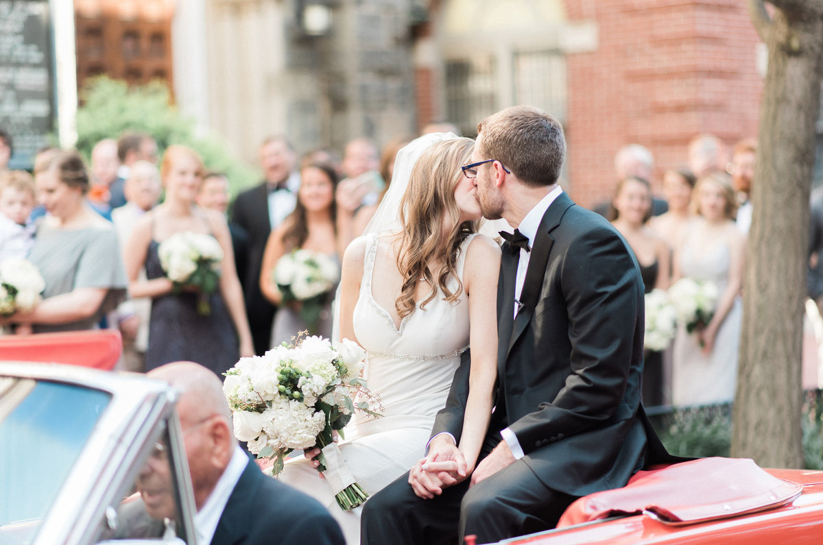 first-kiss-mustang-convertible-wedding-photography-dc