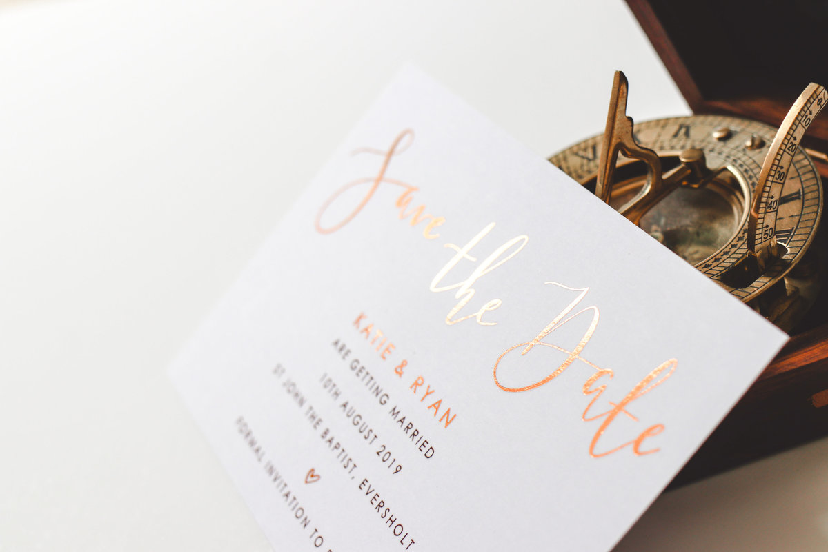 Metallic Foil Stationery