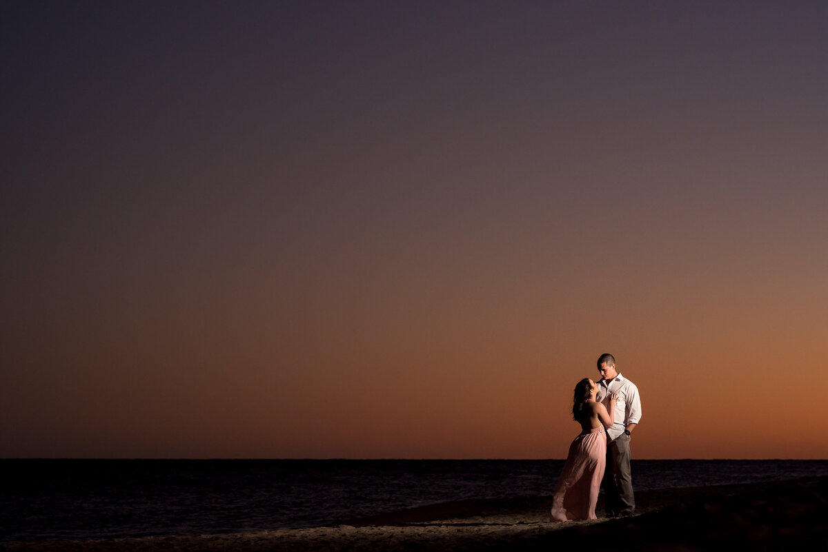 sunset-beach-engagement-wilmington